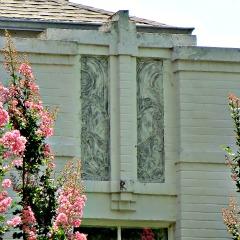 Detail on Art Deco home designed b Joseph R. Koberling
