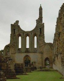 Byland Abbey gothic ruin, Yorkshire, courtesy of Raffstein at Wikimedia, http://commons.wikimedia.org/wiki/File:Byland_Abbey.jpg