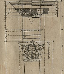 Corinthian column showing proportions