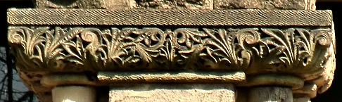 Gothic stylized fern volutes on Imani Temple in DC