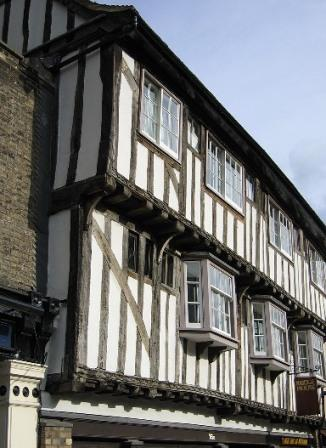 half-timbered post and beam timber framing house