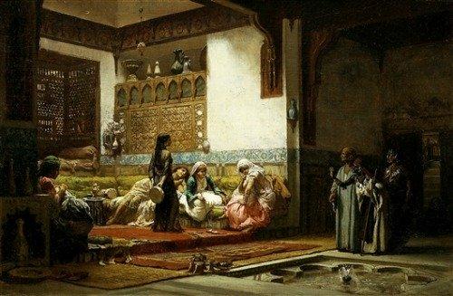 Houses in Art - Moorish Interiors - Frederick Arthur Bridgman