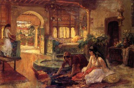 Houses in Art - Orientalist Interior - Frederick Arthur Bridgman
