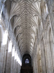 The ceilings of a Gothic building could be much higher, with larger windows, allowing in more light