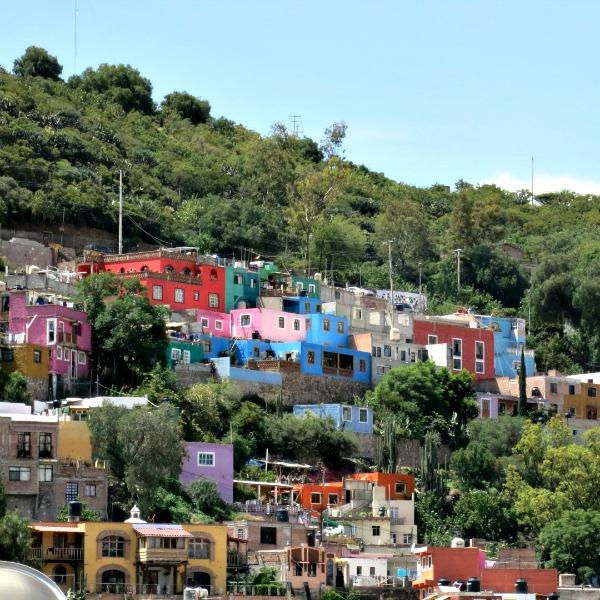 Colorful homes in Guanajuato