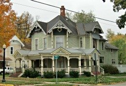 Queen Anne House from Hillsdale, Michigan - Click here to see my houses on Facebook