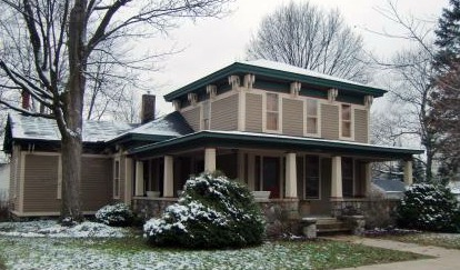 Clapboard Italianate Home, Dexter, MI