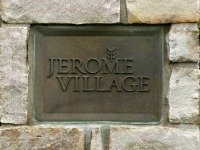 Jerome Village Sign at the Entrance