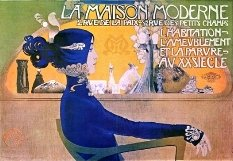 Ad for La Maison Moderne – Art Nouveau style ad for an exhibition on modern houses