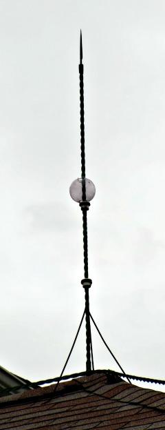 Lightning Rod from below