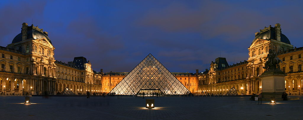 Louvre with Pyramid by I.M. Pei - Photo courtesy of Benh LIEU SONG