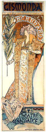 Alphonse Mucha – Ad for Gismonda – a Play starring Sarah Bernhardt.