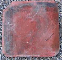 My Pink Asbestos Tile - its pink is apparent where it has not been covered with lichens and moss.
