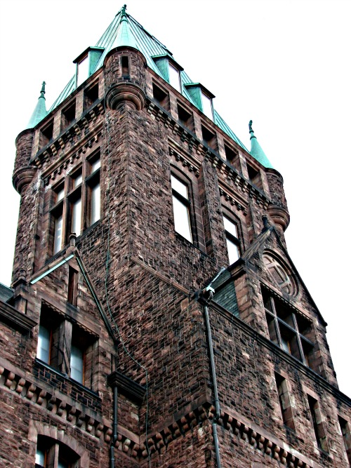 NY State Asylum Tower - First Richardsonian Romanesque Building - HH Richardson - starting in 1869
