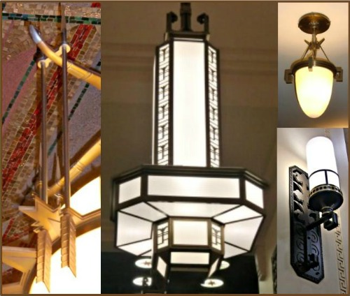 Art Deco Ohio Supreme Court Building Lamp Collage