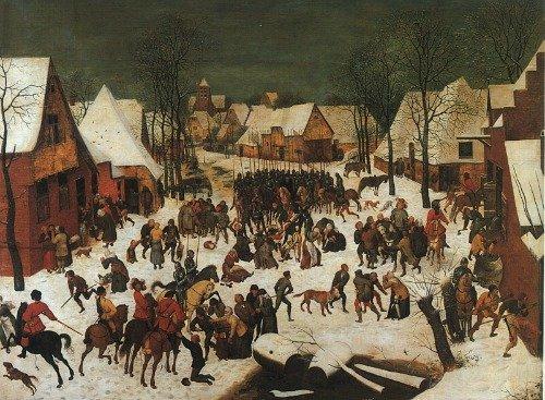 Houses in Art - Pieter Bruegel the Elder - Slaughter of the Innocents - 1566