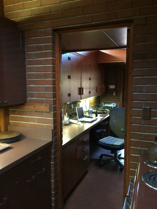 Doorway to the Kitchen Office in the Rosenbaum House - A Frank Lloyd Wright Usonian House