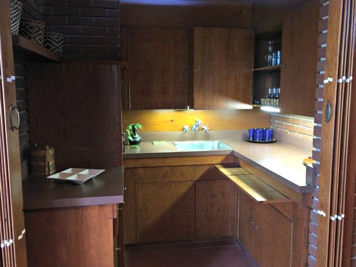 The original kitchen in the Rosenbaum House - A Frank Lloyd Wright Usonian House