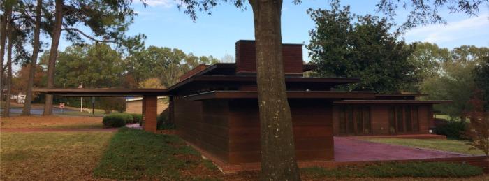 Side View of Rosenbaum House, Original 1939 Frank Lloyd Wright Usonian House