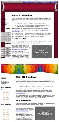 Examples of the free blog templates offered by Sitesell