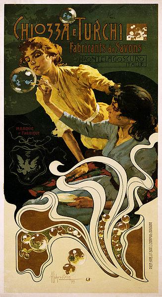 Art Nouveau – Adolfo Hohenstein illustration for Chiozza e Turchi soap