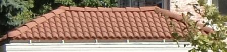 A Spanish tile roof
