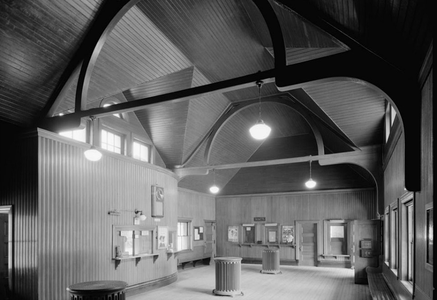 Wellesley, MA RR Station Interior - Henry Hobson Richardson, Architect