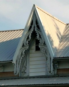 Gothic Bargeboard on Gable on West Liberty, OH home