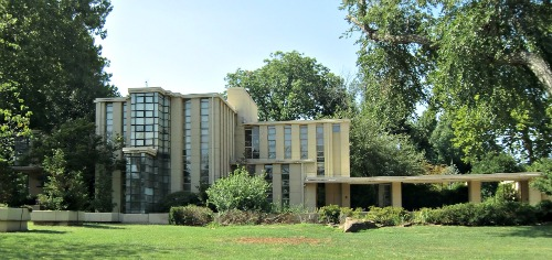 This is a Frank Lloyd Wright home.  I hesitate to call it an Art Deco home because Wright cannot be so easily classified.