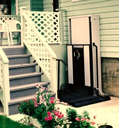 This wheelchair porch lift is from Freedomliftsystems.com and starts at arount $3,800.