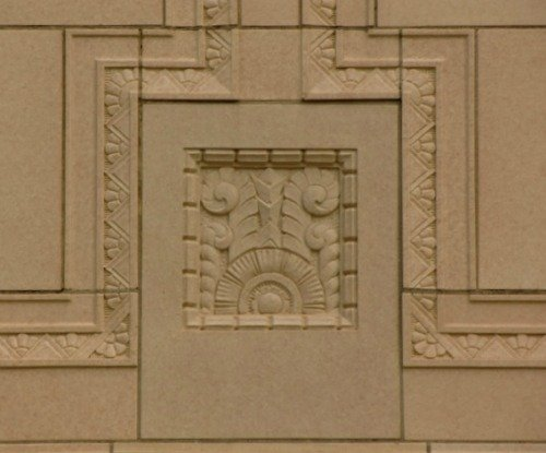 Art Deco Tiles Decorate Will Rogers Highschool in Tulsa, Oklahoma