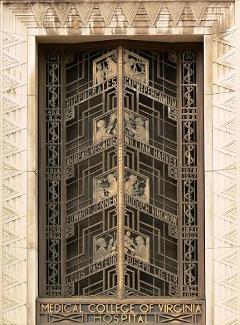 Art Deco door at Medical College of Virginia