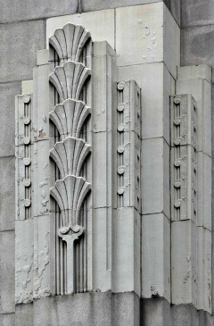 Papyrus design on Art Deco courthouse in Boston, MA