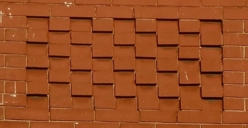 checkerboard brick pattern with headers