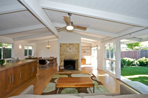 Cliff May California Ranch Style home - interior
