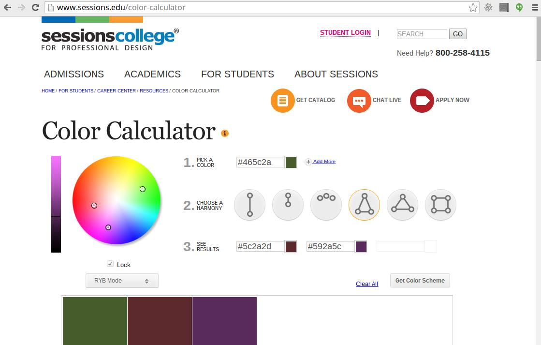 Color Wheel Chart App
