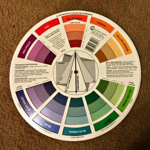 color wheel chart showing tints, tones and shades