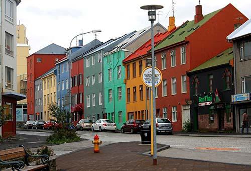 Colorful Neighborhood in Europe