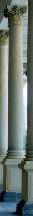 column on a pedestal from a colonnade at Karlovy Vary