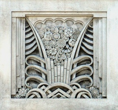 Art Deco Plaque from the Vars Building in Buffalo