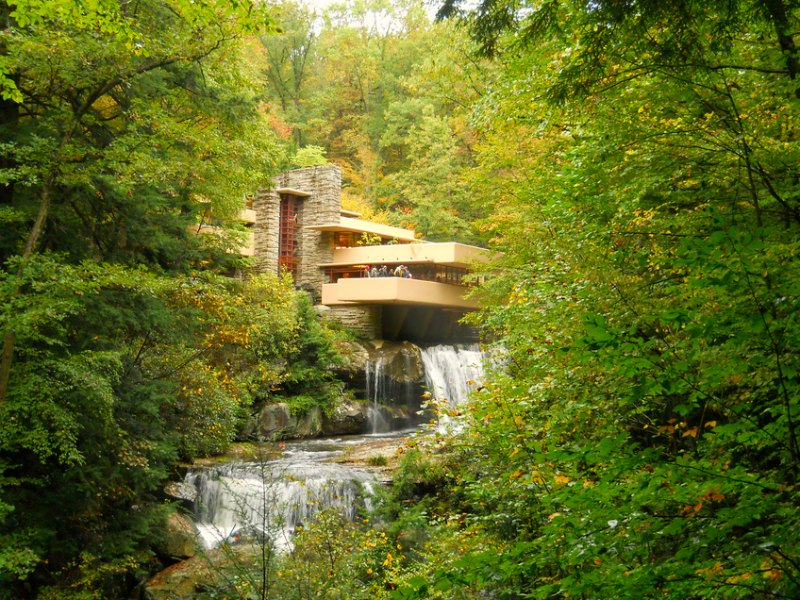 Fallingwater by Frank Lloyd Wright, an example of biophilic design - photo courtesy of Rayb at Flickr