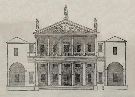 Palladian house with two-tier porch