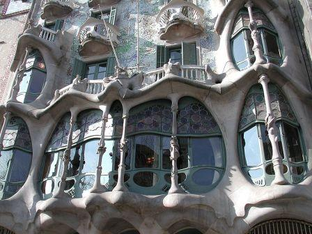 Gaudi's Art Nouveau Architecture at it finest in Casa Batllo