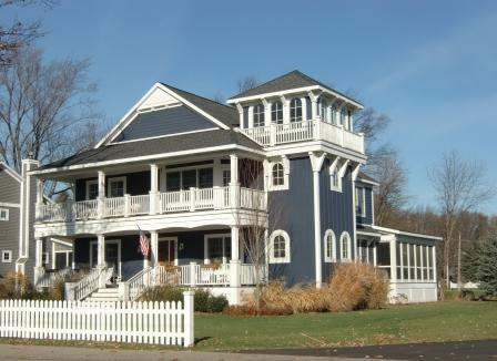 A New England Victorian comes to the lake at Holland, MI