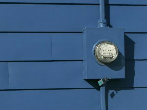 Painting the utility meter.