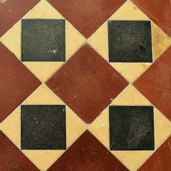 Minton Tiles - A simple, but effective floor tile pattern - bathroom tile design ideas