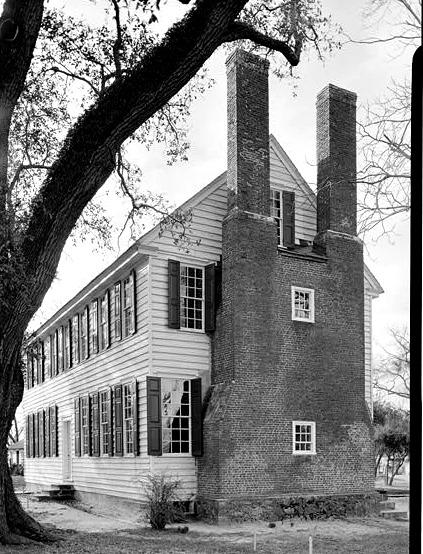 dual chimneys at the Palmer Marsh house.