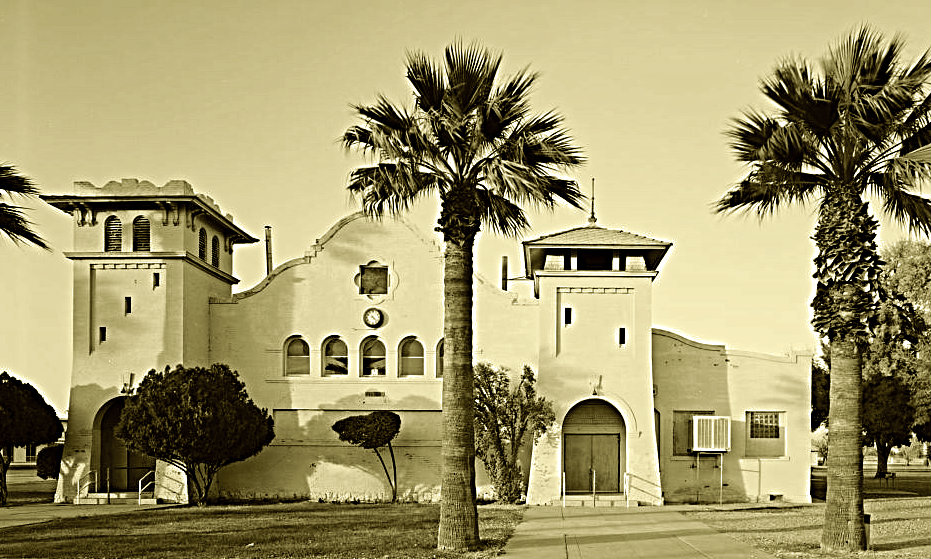 This building at the Phoenix Indian school looks very much like a Franciscan Mission.