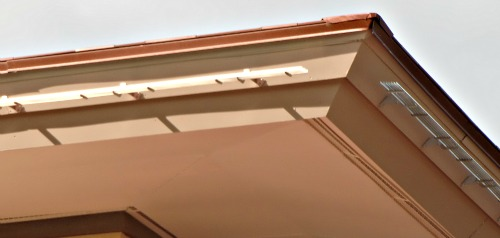 The rain handlers as installed on Mark's second story eaves