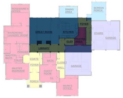 Floorplan of the Universal Design Living Laboratory